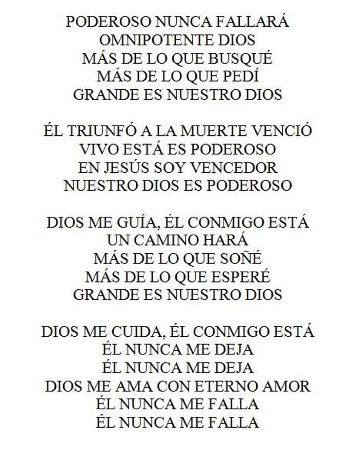 Dios es poderoso lyrics